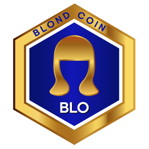 Blondcoin hexagonal logo